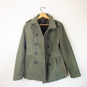 H&M divided green coat size 6